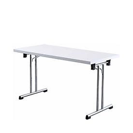 Mesa plegable, 1380 x 690 mm, blanca