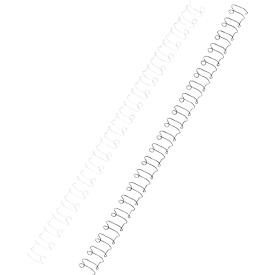 GBC® metalen inbindruggen, ø 8 mm, wit