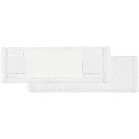 Microvezelmop Perfect White, breedte 400 mm, m. pockets en flappen