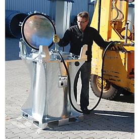 Minitank BAUER MT 235, voor binnen en buiten, afsluitbaar, incl. handpomp, B 800 x D 800 x H 1250 mm