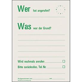 Mitteilungszettel-Block Wer hat angerufen?, 60 Blatt