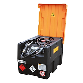 Mobiel benzinestation CEMO KS-Mobil EASY, met handpomp en scharnierend deksel, 190 l benzinetank, polyethyleen, ATEX, B 800 x D 600 x H 610 mm