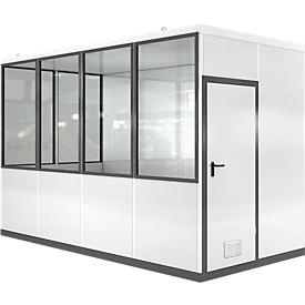 Mobiel ruimte-in-ruimtesysteem VSM, L 4045 x B 2045 mm, voor binnen, zonder vloer, grijswit RAL 9002/antr.grijs RAL 7016