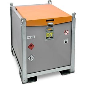 Mobiel tankstation CEMO DT-Mobil PRO PE Basic, 980 l diesel tank, Cematic 72 elektrische pomp, 230 V, automatische sproeier, B 1300 x D 1150 x H 1300 mm