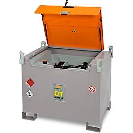 Mobiel tankstation CEMO DT-Mobil PRO PE Premium, 440 l, elektrische pomp 12 V, 40 l/min, automatische sproeier, teller K24, B 1250 x D 870 x H 1070 mm