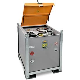 Mobiel tankstation CEMO DT-Mobil PRO ST 980 Premium, 980 l, Cematic 72 elektrische pomp, 230 V, K33 teller, filter, B 1300 x D 1150 x H 1300 mm