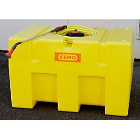 Mobile Bewässerungssysteme BWS 30-PE CEMO, Förderleistung 30I/min, L 1160 x B 760 x H 730 mm, Gewicht 37 kg, 450 Liter