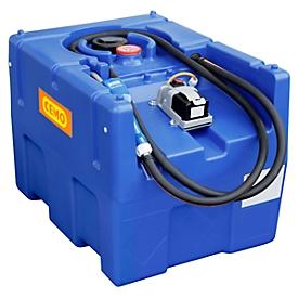 Mobile Tankstelle CEMO Blue-Mobil EASY, mit Tauchpumpe CENTRI SP30 12V, 200 l Tank für AdBlue® mit LiFePO4-Akku und Ladegerät, B 800 x T 600 x H 590 mm