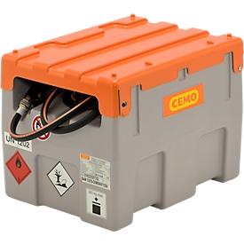 Mobile Tankstelle CEMO DT-Mobil Easy 200 l, Elektropumpe CENTRI SP30, 12 V, 30 l/min, Automatik-Zapfpistole, Klappdeckel, B 800 x T 620 x H 610 mm
