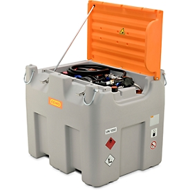 Mobile Tankstelle CEMO DT-Mobil Easy Premium, Combi 850/100 l Tank für Diesel und Adblue®, Elektropumpe CematicDuo24/12 V
