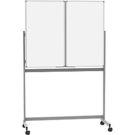 Mobile Whiteboard-Klapptafel MAULstandard, weiß kunststoffbeschichtet, magnethaftend, 2 Flügel, B 1200 x H 1000 mm