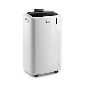 Mobiles Klimagerät De'Longhi Comfort PAC EM93 SILENT, bis 2,6 kW Kühlleistung, max. 400 m³/h, Silent System mit 63 dBA, 3 Ventilationsstufen, weiß