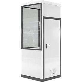 Mobiles Raumsystem WSM, L 1045 x B 1045 mm, für Außenaufstellung, mit Fußboden, grauweiß RAL 9002/ anthr.grau RAL 7016