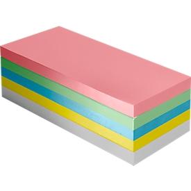 Moderationskarten-Block, Rechteck, 100 x 200 mm