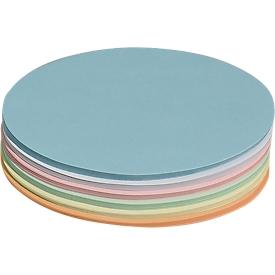 Moderationskarten, oval, 110 x 190 mm, 250 Stück, farbsortiert