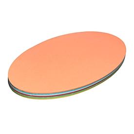 Moderationskarten, oval, 220 x 370 mm, 100 Stück, farbsortiert