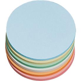 Moderationskarten, rund, ø 140 mm, farbsortiert, 250 Stück