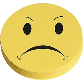 Moderationskarten, Wertungssymbol, negativ, ø 93 mm, 100 Stück, gelb