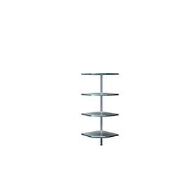 Módulo adicional esquinero, L 550/550 x P 350 x Al 1600mm, 4 estantes, galvanizado