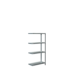 módulo adicional, L 800 x P 350 x Al 1600mm, 4 estantes, galvanizado