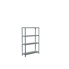 módulo base, L 1000 x P 350 x Al 1600mm, 4 estantes, galvanizado