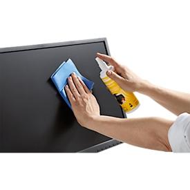 Monitor Reinigungsspray Schäfer Shop Select, für Displays & Computerzubehör, antistatisch, streifen- & alkoholfrei, mit Microfasertuch, 250 ml