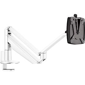Monitorarm Novus CLU II C, für 1 Monitor bis 7 kg, mit Tischbefestigung, neig/schwenk/höhenverstellbar, weiß