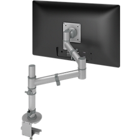 Monitorarm ViewGo voor 1 monitor, aluminium zilver