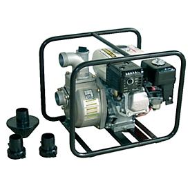 Motobomba CEMO, con motor de gasolina, 500l/min, con conexión de aspiración y de presión, An 470 x P 350 x Al 390mm