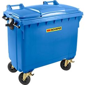Müllcontainer MGB 660 FD, Kunststoff, 660 l, blau