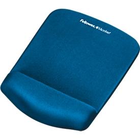 Muismat-polssteun Fellowes PlushTouch, antislip, ergonomisch, blauw