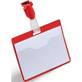 Namensschild, für Betriebsausweise, rot, 25 St.