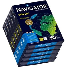 Navigator Office Card, DIN A4, 160 g/m², hochweiß, 1 Karton = 5 x 250 Blatt