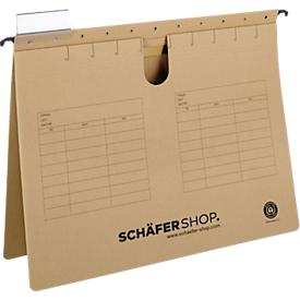 Niet te missen: SCHÄFER SHOP hangmappen, A4-formaat, bruin, 4 x 25 stuks