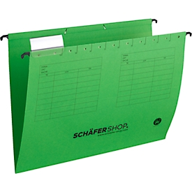 Niet te missen: SCHÄFER SHOP kartonnen hangmappen, voor A4-formaat, V-bodem, groen, 4 x 25 stuks