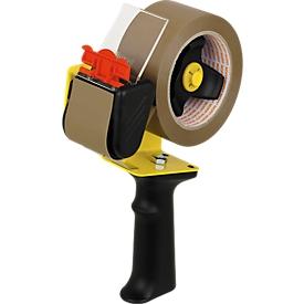 NOPI paquete económico de 36 rollos de cinta de embalar, transparente + dispensador de cinta