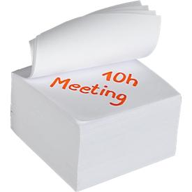 Notizzettel, 90 x 90 mm, weiß
