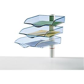 Novus sorteerbak CopySwinger, naar keuze 3 tot 5 bakken, B4-formaat, zuilensysteem, lichtgrijs