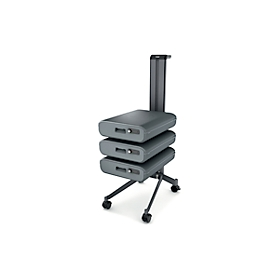 Office Caddy Sigel Set II Office Caddy Workplace Move it, enkelzijdig, incl. 3 x Office Box S, B 489 x D 324 x H 1001 mm, met toebehoren