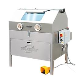 Onderdelenwasmachine BIO-CIRCLE® HP Vigo, tot 80 bar, tot 90 l, tot 45 °C, tot 150 kg, met persluchtpistool + industriële reiniger CB 100, 5 bussen á 20 l
