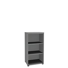 Open kast, 1-delig, 3 ordnerhoogten, b 600 mm, zilver