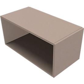 Open opzetkast SOLUS PLAY, voor ladeblok met uittreklade SOLUS PLAY, hoogte 368 mm, stone grey