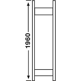 Openkastsysteem R3000, frame, H 1960 x 300 mm