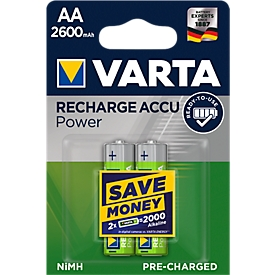 Oplaadbare batterijen van VARTA, Mignon AA, 2 stuks