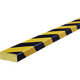 Oppervlaktebescherming type D, 5 m/rol, geel/zwart