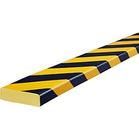 Oppervlaktebescherming type S, 1 m/stuk, geel/zwart