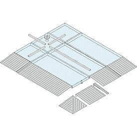 Oprijplaat, L 470 x B 850 mm