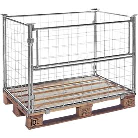 Opzetframe voor pallets type 64, 1200 x 800 x 1600 mm, gelakt