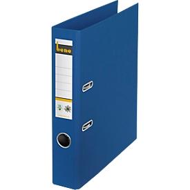 Ordner Bene No.1, A4, Rückenbreite 47 mm, Hebelmechanik, Griffloch & geklebtes Rückenschild, CO2-neutrale Pappe, blau