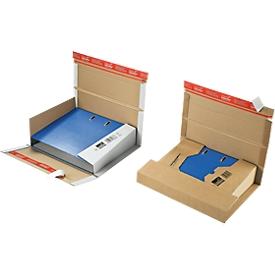 Ordner-Versandbox Security, f. A4-Ordner m. Rückenhöhe 35-80 mm, braun/weiß, 20 St.